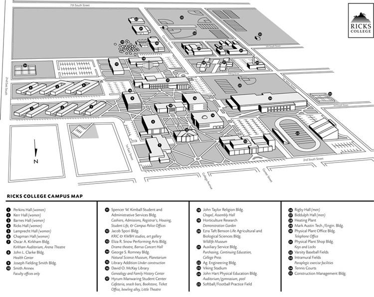 Byu Idaho Campus Map Campus Map